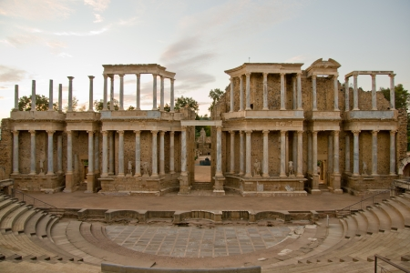 badajoz: Roman theater in Merida, Badajoz, Extremadura, Spain