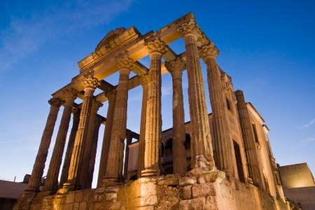 Merida, Badajoz, Extremadura, Spain. Roman Diana&acute,s temple
