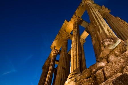 Merida, Badajoz, Extremadura, Spain. Roman Diana´s temple  Stock Photo - 17555055