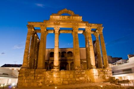 Merida, Badajoz, Extremadura, Spain. Roman Diana´s temple  Stock Photo - 17555054