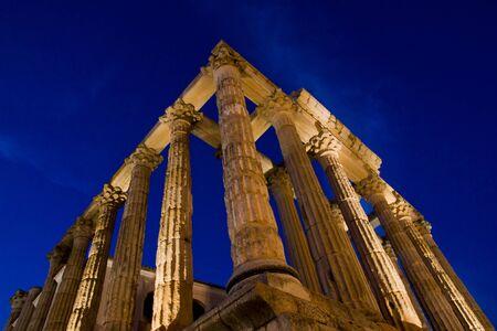 merida: Merida, Badajoz, Extremadura, Spain. Roman Diana�s temple
