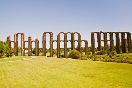 Merida, Badajoz, Extremadura, Spain. Aqueduct of the Miracles photo