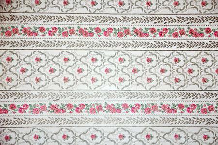 retro floral wallpaper  photo