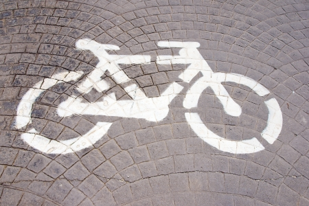 bicycle signal on a road photo