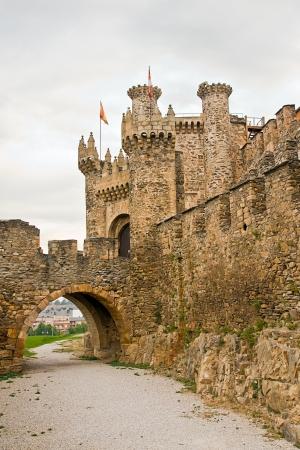 castilla leon: Templar castle in Ponferrada, Leon, Spain
