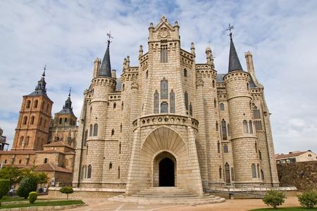 Gaudi palace in Astorga, Leon, Spain Stock Photo - 17913746