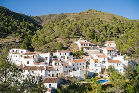 Frigiliana  in Costa del Sol, Malaga Province, Andalusia, Spain. View of El Acebuchal