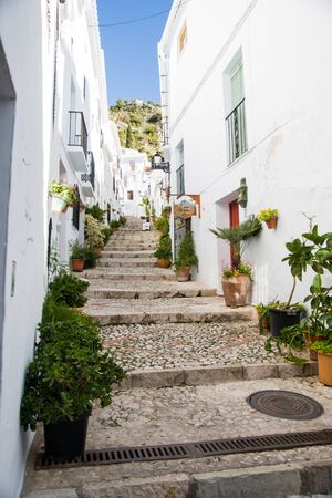 Street in Frigiliana in Costa del Sol, Malaga Province, Andalusia, Spain photo