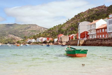 boats in Rias Baixas, Galicia, Spain