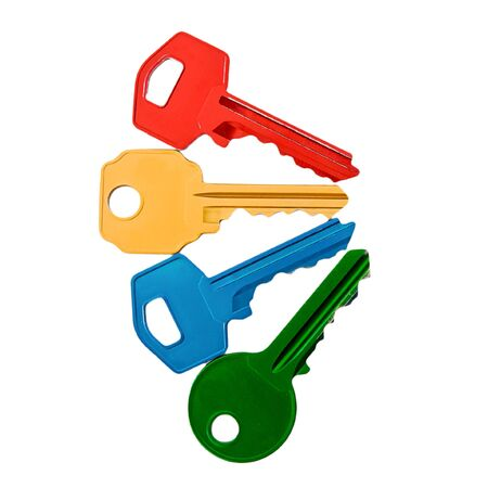 colored keys on white background Stock Photo - 18357268