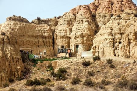 cave houses in Granada, Spain