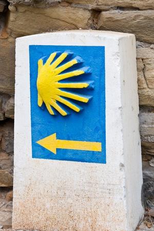 pilgrim journey: pilgrim shell  in Ponferrada, Leon, Spain