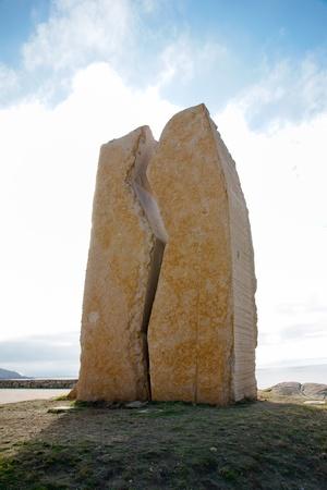 prestige: Memorial to the tragedy of the Prestige in Muxia, La Coruna, Spain
