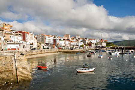 boats in Finisterre, Galicia, Spain Stock Photo