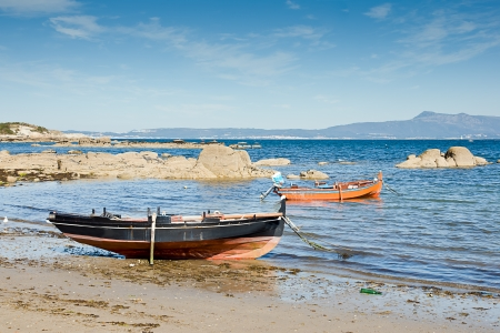 barche a O Grove, Pontevedra, Galizia, Spagna