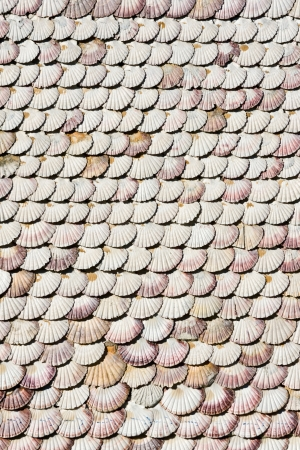 singular architecture: Chapel of the shells on the island of La Toja, Galicia, Spain