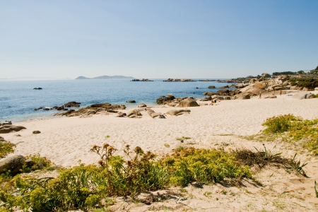 San Vicente beach en El Grove, Galicia, Spain
