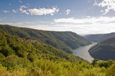 Sil canyon, Ribeira Sacra, Ourense, Galicia, Spain Stock Photo