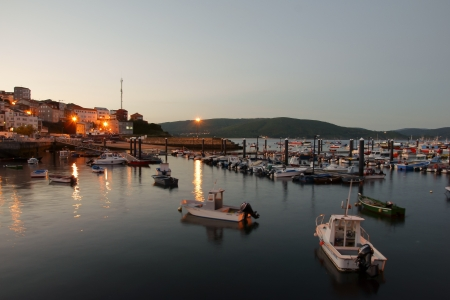 Finisterre in Galicia, Spain at night Stock Photo - 18952214