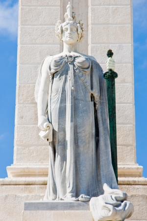 Cadiz in Andalucia, Spain. Commemoration of the first Spanish constitution photo