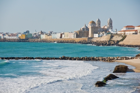Beach of Cadiz in Andalucia, Spain photo