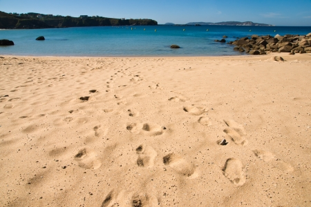 beach in O Grove, Galicia, Spain Stock Photo