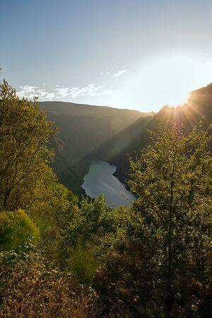 orense: Sil canyon, Ribeira Sacra, Ourense, Galicia, Spain Stock Photo