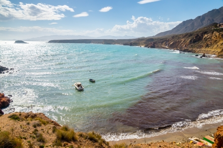 Bolnuevo beach in Mazarron, Murcia, Spain