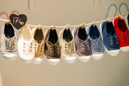 baby shoes: shoes in a market