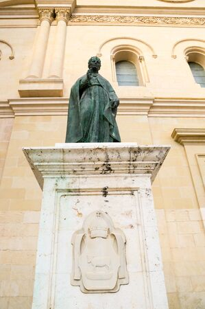 cathedral in Xativa, Valencia, Spain. Calixto III statue photo