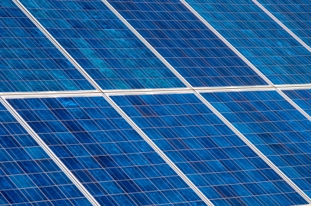 solar panels collecting energy from the sun  photo