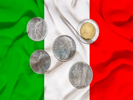 italy old coins, liras photo