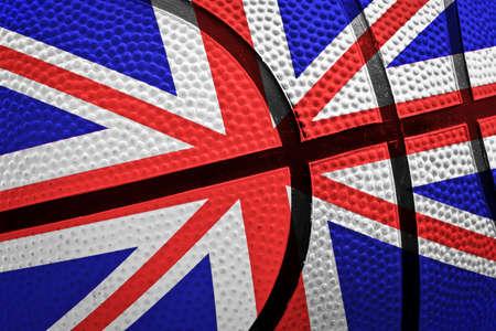 bandera de reino unido: pelota de baloncesto con bandera del Reino Unido