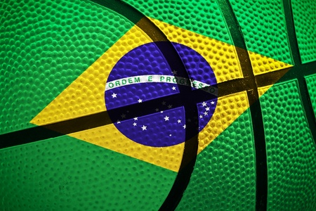 viewfinderchallenge3: basketball ball with Brazil flag
