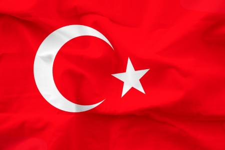 turkish flag: Turkey flag Stock Photo