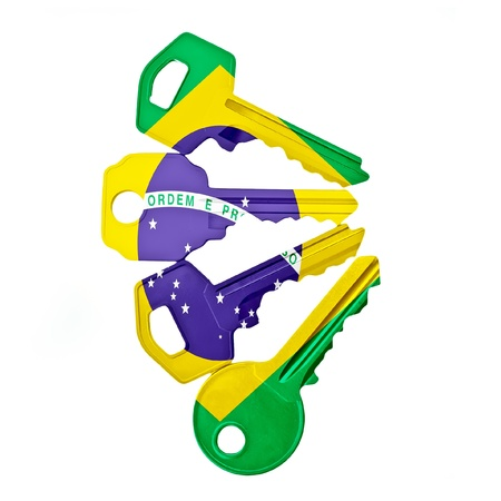 keys with Brazil flag photo