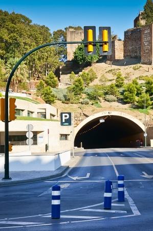 alcazaba: Alcazaba tunnel in Malaga, Spain