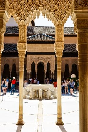 Alhambra in Granada, Andalucia, Spain Redactioneel