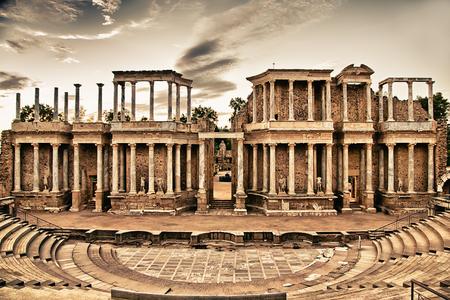 merida: Roman theater in Merida, Spain Stock Photo