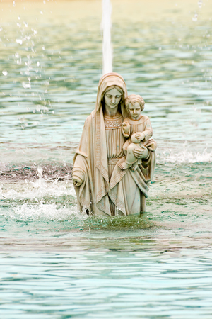 virgin in a lake in Torremolinos, Spain photo