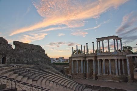 extremadura: Roman theater in Merida, Badajoz, Extremadura, Spain