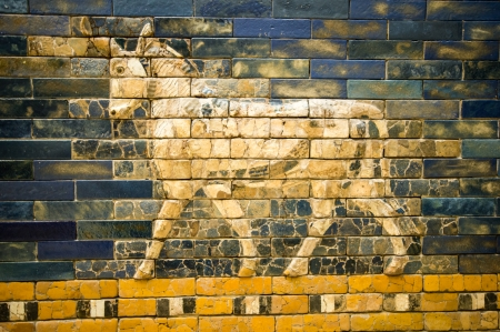ishtar gate of babylon: fragment of the Ishtar Gate