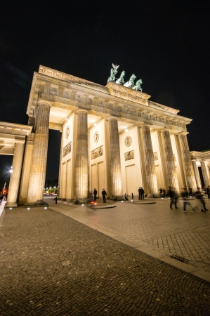 BERLIN, GERMANY - SEPTEMBER 16:  Brandenburg Gate and Pariser Platz on September 16, 2013 in Berlin, Germany. Called Brandenburger Tor, it's one of the few monuments that survived after Second World War.