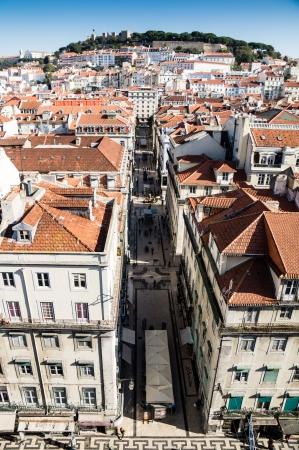 elevador: LISBOA, PORTUGAL - NOVEMBER 28: The Santa Justa Lift (Elevador de Santa Justa) on November 28, 2013 in Lisbon, Portugal. It is a elevator in the historical city of Lisbon. Editorial