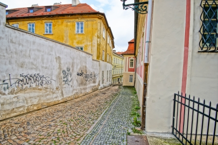 street in Prague, Czech Republic photo