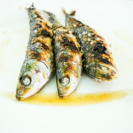 espeto de sardinas, typical Costa del Sol food photo