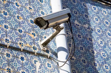 bairro: security cam in Bairro Alto, Lisbon, Portugal