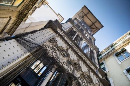 Santa Justa Elevator in Lisbon, Portugal. Imagens