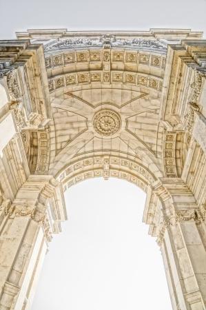 augusta: Arco de Rua Augusta en Lisboa, Portugal