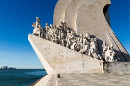 Padrao dos Descobrimentos (Monument van de Ontdekkingen) in Lissabon, Portugal Redactioneel